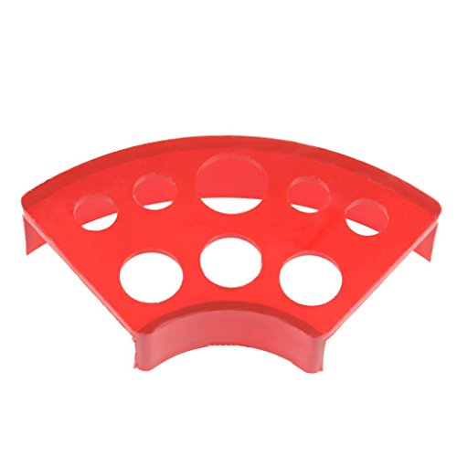 Fan-shaped Body Art Tattoo Cup Cap Pigment Ink Stand Rack Organizer Multi Holders - Red