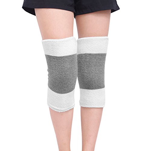 Men Women Thicken Thermal Knee Warmers Leg Sleeves Warmers Winter Breathable Cozy Warm Knee Pads Leg Support Protector for Ski Cycling Dance Runing Arthritis Tendonitis