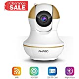 AKASO IP1M-902 Wireless IP Camera Home Wifi Security HD 720P Baby Monitor Video Surveillance Network Webcam - Plug/Play, Night Vision, Two Way Audio, Pan/Tilt