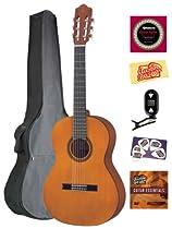 Yamaha CGS103A 3/4-Size Classical Guitar Bundle with Gig Bag, Tuner, Instructional DVD, Strings, Pick Card, and Polishing Cloth