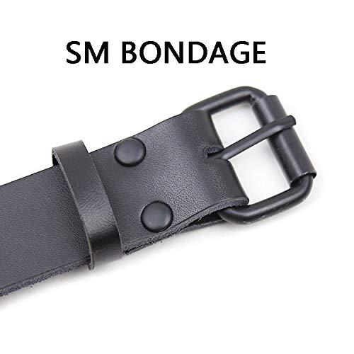H.L Bondage Collar, Ajustable Sexy PU Cuero Mujer de Collar gótico cinturón Club Fiesta de Mujer fetiches liados 2f5eb1