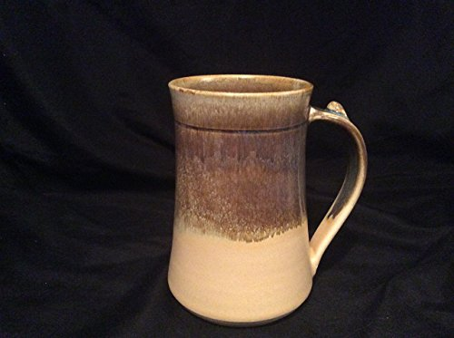 Pottery mug Swiss chocolate and butter, handmade by Two Owls Pottery 16 -17 oz.