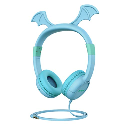Mpow [Update] Kids Headphones with 85dB Volume Limited Hearing Protection, Child-Friendly Silicone, Dragon Inspired Wired On-Ear Headsets, Perfect Children Headphones for School, Home and Travel