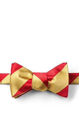 Red & Gold Stripe Red Microfiber Butterfly Bow (Red Gold Bow)