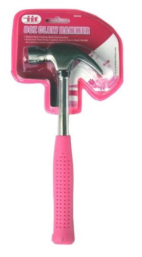 IIT 88400 Ladies 8-Ounce Claw Hammer, Pink by IIT