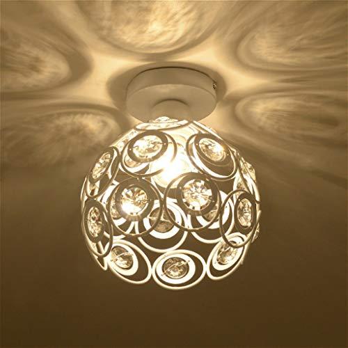 ●  Lampe de chambre à coucher en cristal moderne Lampe de porche à DEL simple, lampe de couloir de balcon, lampe de couloir, lampe d'entrée créative Hall E27 (22CM  20CM) (Couleur  Blanc) ●