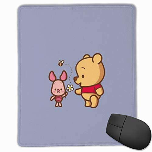 Mouse Pad, Winnie The Pooh and Piglet Non-Slip Rubber Base Gaming Mousepad for Computer Laptop- 8.6
