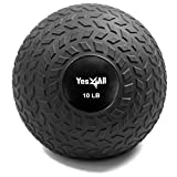 Yes4All 10 lbs Slam Ball for Strength and Crossfit Workout - Slam Medicine Ball (10 lbs, Black)