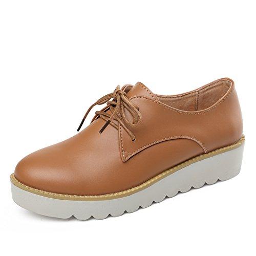 Primavera Zapatos Mujer Casual,UK Air Zapatos,Zapatos De Mujer Planos,Zapatos De Mujer Cuero Suela Gruesa C