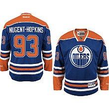 Image Unavailable. Image not available for. Colour  Ryan Nugent-Hopkins  Jersey  93 Edmonton Oilers Blue Reebok Premier ... 1b60ad504