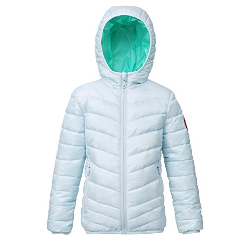 - Rokka&Rolla Girls' Lightweight Reversible Water Resistant Hooded Quilted Poly Padded Puffer Jacket Baby Blue