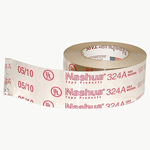 Nashua Foil Tape (Nashua 324A Cold Weather Premium Foil Tape, 4.8 mil Thick, 60 yards Length x 2-1/2 Width, Silver by Nashua)