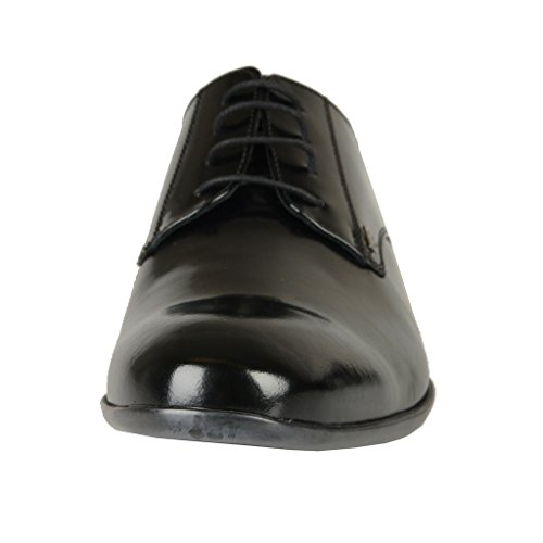822 Shoes Polished Mens Black Versace Shoes Black Oxfords Leather Collection nZwYggq8