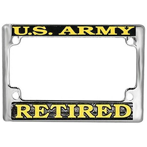 Honor Country US Army Retired Motorcycle License Plate Frame - Retired License Army Plate
