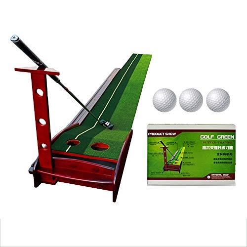 Sviper-sport Family Golf mat Artificial Turf Golf Putting Trainer Indoor/Outdoor Golf Auto Return Putting Trainer Mat Track Indoor Putting Green 2 Holes/2 Sizes Gravity Ball Return Golf Greens