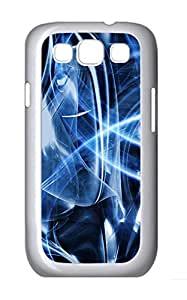 Samsung S3 Case Blue Abstract Art PC Custom Samsung S3 Case Cover White
