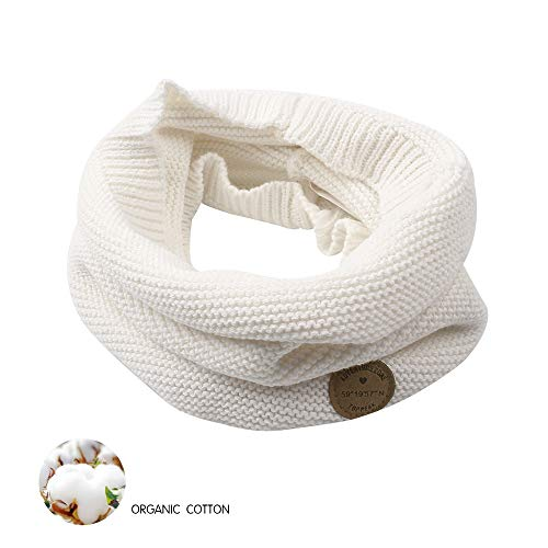 XIAOHAWANG Baby Winter Scarf Kids Thick Knit Scarves Toddler Neckerchiefs Lovely (White) by XIAOHAWANG