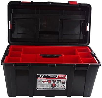 Tayg Caja Herramientas plástico n. 32, negro, 480 x 258 x 255 mm: Amazon.es: Bricolaje y herramientas