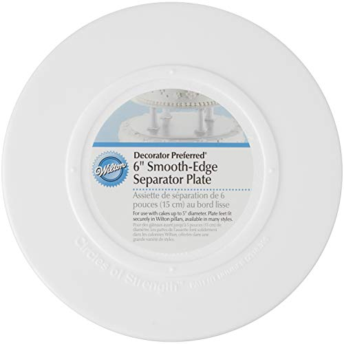 (Wilton 302-4101 Smooth Edge Separator Plate for Cakes, 6-Inch)