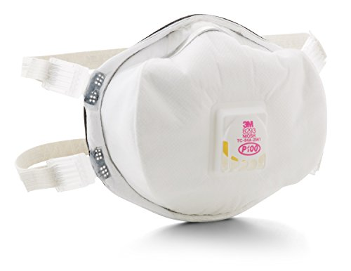 3M 8293 P100 Disposable Particulate Cup Respirator with Cool Flow Exhalation Valve, Standard