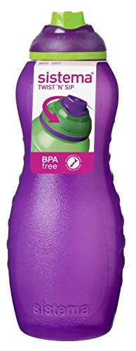 Price comparison product image Sistema Davina Water Bottle - 700 ml, Purple by Sistema