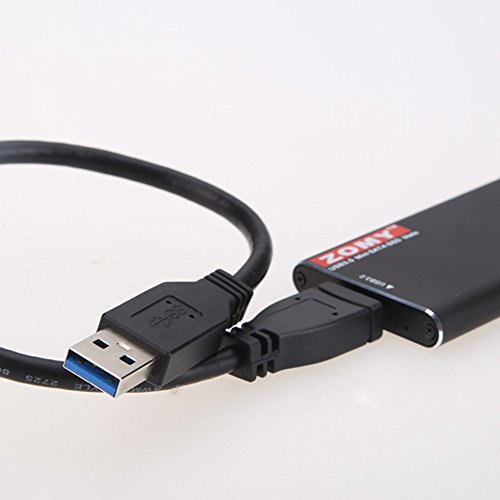 Alloet New ZOMY External mSATA SSD to USB 3.0 Super Speed Converter Adapter Enclosure Case (Black) by Alloet (Image #6)'
