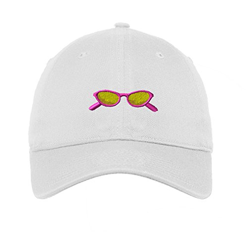 Sunglasses Sun Shades Emboirdery Unisex Adult Flat Solid Buckle Cotton 6 Panel Low Profile Hat Cap - White, One - Day Sunglasses To Remember A