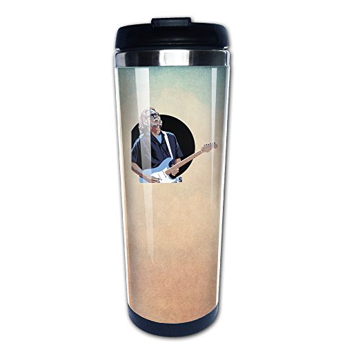 Boomy Funny Eric Patrick Clapton Guitar Stainless Steel Coffee Mug For Indoor & Outdoor Office School Gym Use