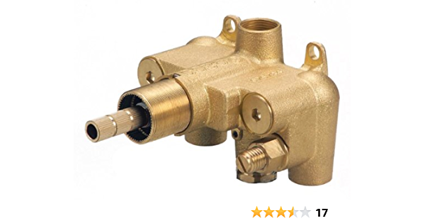 K Chrome 3 Handles Thermostatic 4-way Brass Shower Diverter Mixer Control Valve