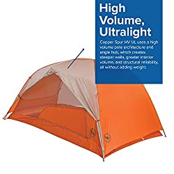 Big Agnes Copper Spur HV UL2 Backpacking Tent, Grey/Orange, 2 Person