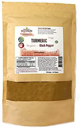 Botaniceutics Organic Turmeric and Black Pepper Powder. 75 Percent Turmeric with 25 Percent Black Pepper. No additives, no fillers. 250 Grams - 8.82 oz. A Source of Natural Curcumin and Piperine (250)