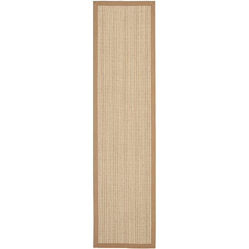 Safavieh Natural Fiber Collection NF442D Martinique Stripe Tan Sisal Runner (2' x 6')