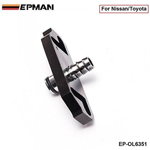 EPMAN Turbo Fuel Rail Delivery Regulator Adapter For Sard Regulator Fit For Nissan/Toyota (Black ,Pack Of 1)