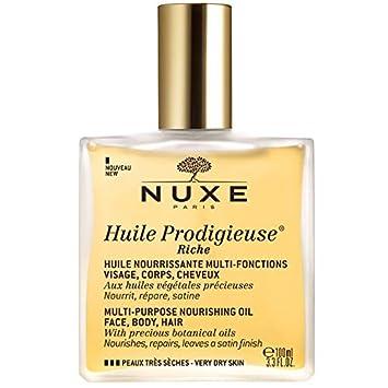 Nuxe Huile Prodigieuse Riche Visage-Corps-Cheveux 100 ml  Amazon.fr ... c2d816853c7