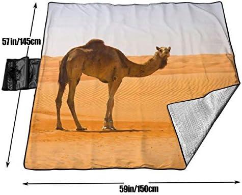 Suo Long Coperta di Picnic della Coperta della Spiaggia della stuoia di Picnic del Cammello della Sabbia del Deserto