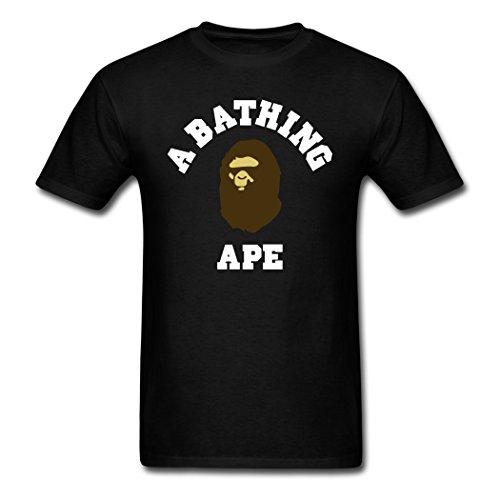 Oyasumi Men S A Bathing Ape High Quality Black T Shirt S