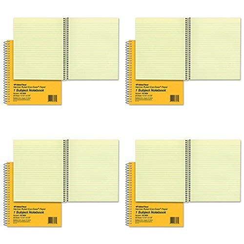 National 33004 Subject Wirebound Notebook, Narrow Rule, 8 1/4 x 6 7/8, Green, 80 Sheets (4) ()