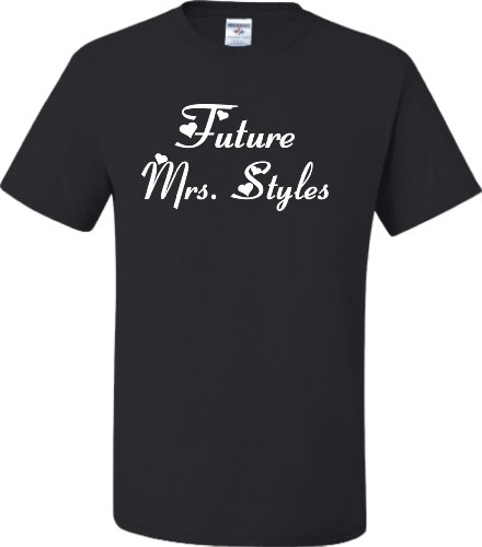 Large Black Adult Future Mrs. Styles T-Shirt (One Direction Adult Clothing compare prices)