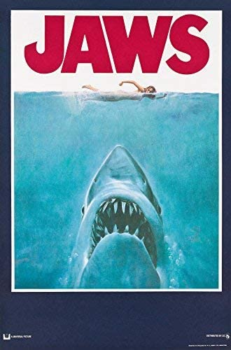 Vintage Jaws Movie Poster  A3//A2//A1 Print