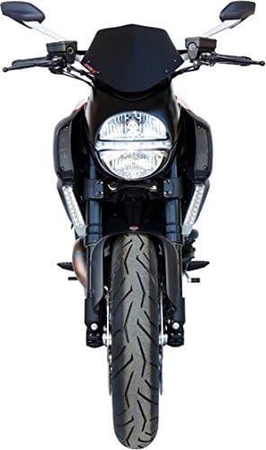 GEN-X Cupolino Nero Bisatinato per Ducati-Diavel 1198 dal 2011 Fino al 2013