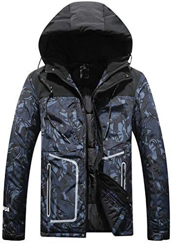 Kangqi Manches Camouflage Pour Vêtements Taille Manteau De Longues Capuche large Bleu À Hommes Xx couleur Homme YrYpw8