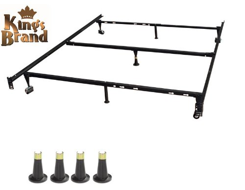 Kings Brand Furniture Heavy Duty 7-Leg Adjustable Metal Quee