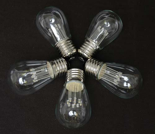 Porch Light Bulb Replacement: Novelty Lights 25 Pack LED S14 Outdoor Patio Edison