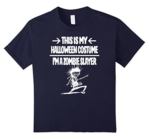 Kids Zombie Slayer Costume Shirt - Men Women Youth T-shirt 12 Navy