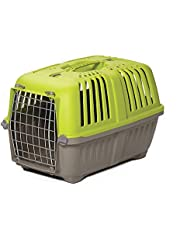 Pet Carrier: Hard-Sided Dog Carrier, Cat Carrier, Small Animal Carrier in Green | Inside Dims 17.91L x 11.5W x 12H & Suitable for Tiny Dog Breeds | Perfect Dog Kennel Travel Carrier for Quick Trips