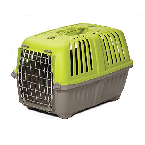 Pet Carrier: Hard-Sided Dog Carrier, Cat Carrier, Small Animal Carrier in Green| Inside Dims 20.70L x 13.22W x 14.09H & Suitable for Tiny Dog Breeds | Perfect Dog Kennel Travel Carrier for Quick Trips from MidWest Homes for Pets