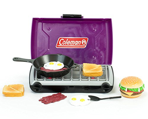 Doll Accessory Playset of Purple Coleman 18 Inch Doll Camping Stove & Food Set, Frying Pan Perfect for American Girl & More! Purple Coleman Campfire Stove and Mini Doll Food Set by Sophia's