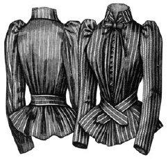 Civil War Colonel Costumes (1891 Silk Shirt Waist Pattern)