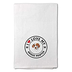 Custom Decor Flour Kitchen Towels I Love My Ariege Pointer Dog Style A Pets Dogs Cleaning Supplies Dish Towels Design Only 4