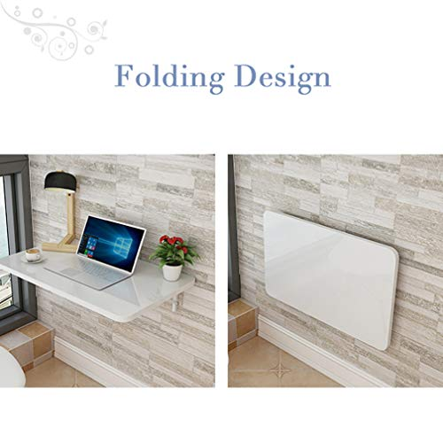 Outech väggfällbart bord platsbesparande, fällbord köksbord, laptop skrivbord vit litet fällbord